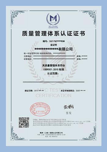 ISO9001样板中文